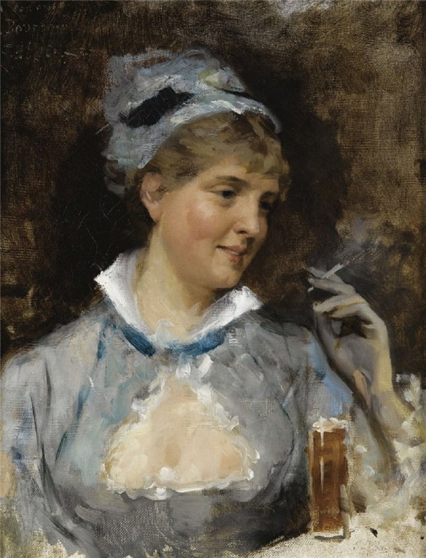 In a bar, by Albert Edelfelt.