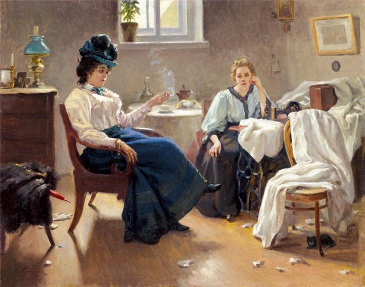 Lady friends, by Teodor Buchholz. (1901).