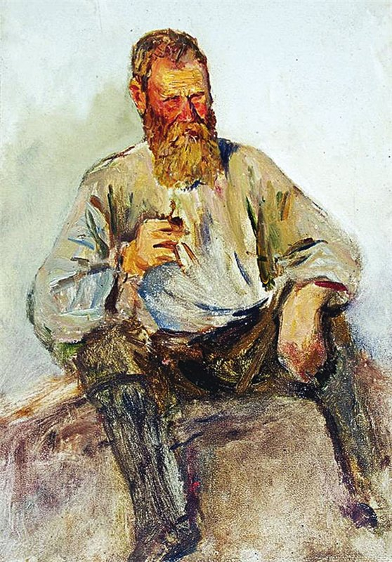 Old man, by Enver Ishmametov.