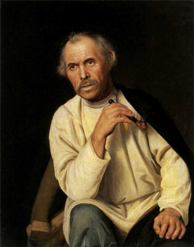 Self-portrait, by Kozhevnikov.