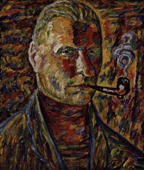 Self-portrait, by Vilho Lampi. (1928)