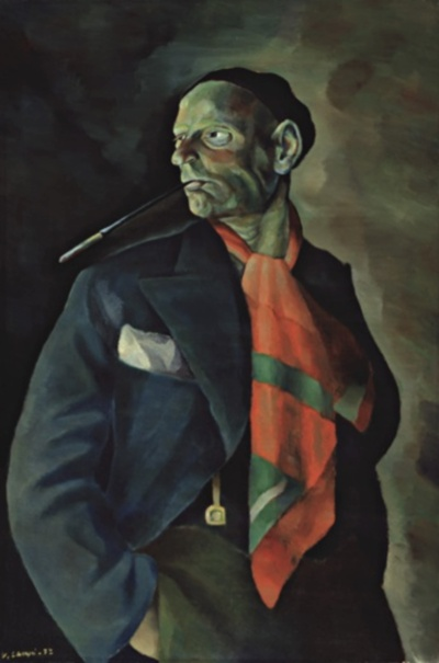 Self-portrait, by Vilho Lampi. (1932)