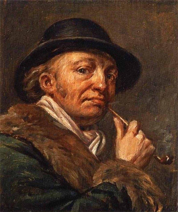 Self-portrait, by Alexander Varnek. (1820s).