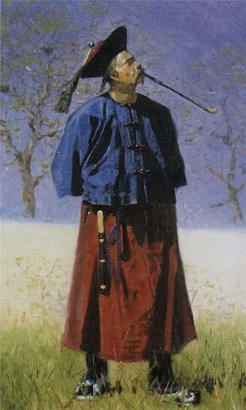 A Chinese man, by V. Vereshchagin. (1873).
