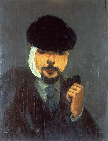 Self-portrait, by Samuil Adlivankin. (1922)