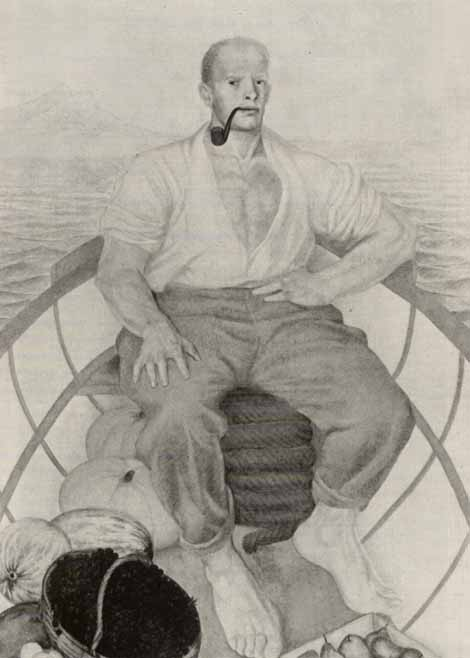 Man in a boat, by Peter Williams. (1926).