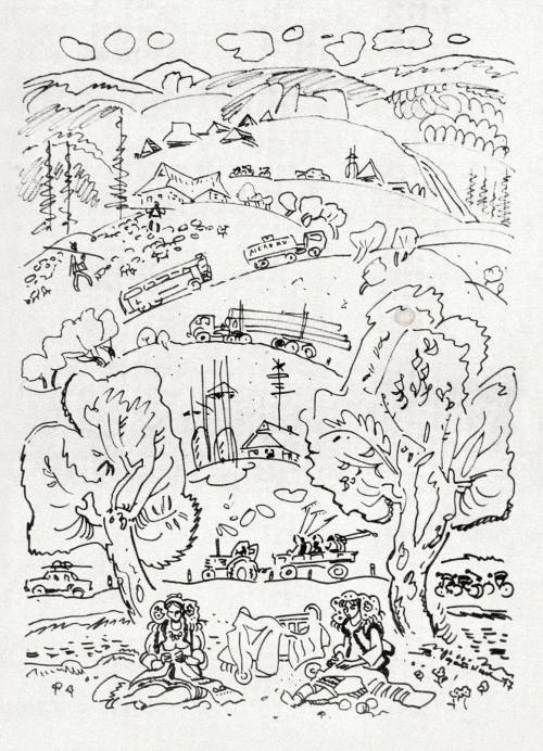In the Carpathians (sketches). (1977).