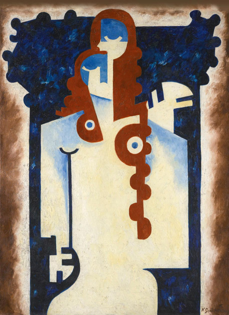 Cubist woman. (1920).