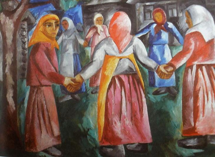 Dancing women. (1910).