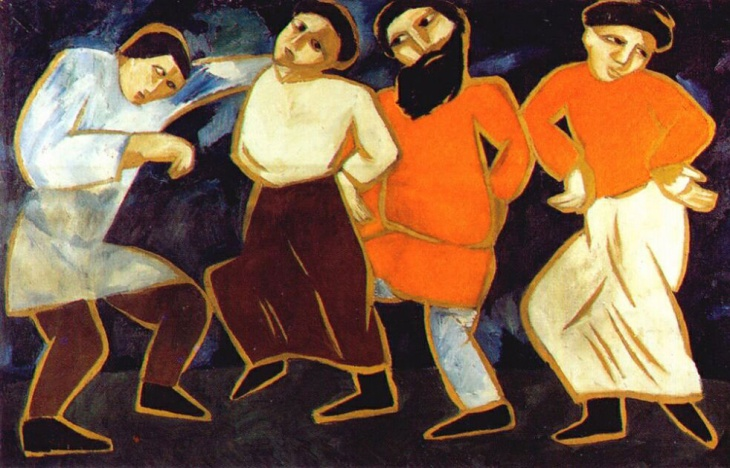 Dancing peasants. (1911).