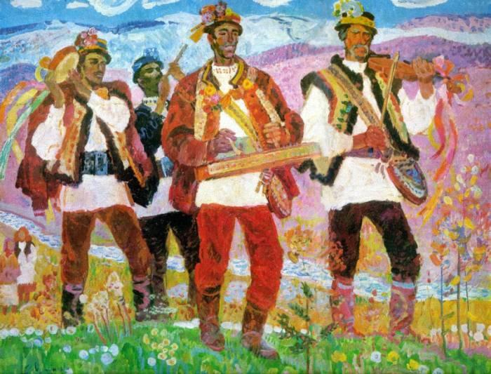 Hutsul musicians.