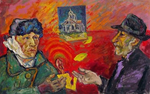 Van Gogh gifts his ear to the artist. (2009).