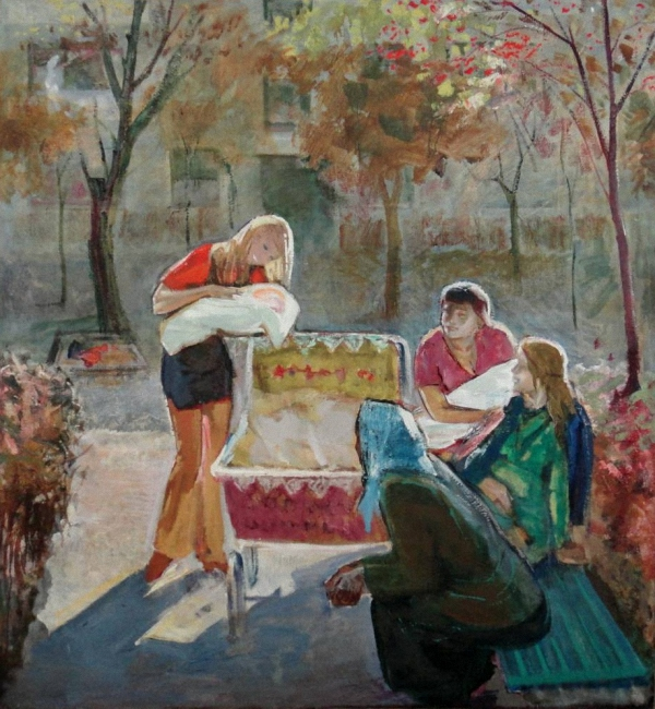 Indian Summer, by Viktor Varlamov. (1970).