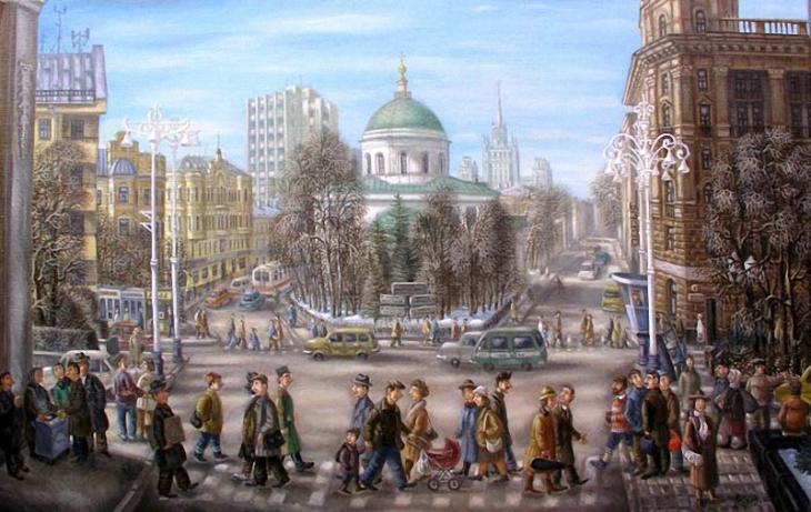 Nikitsky gates, by Sergey Volkov. (1986).