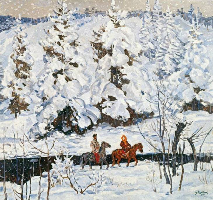 Winter in the Carpathians. (1972).