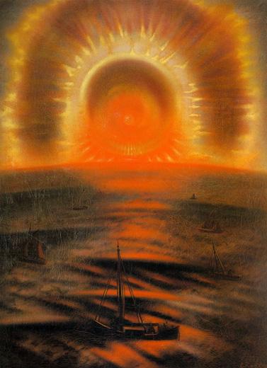 Midnight sun (Northern lights). (1925).