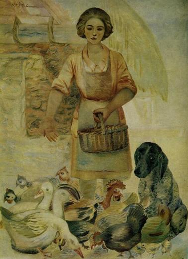 Morning on the farm. (1933).