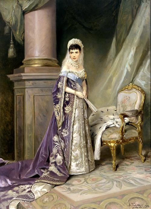 Portrait of Empress Maria Fedorovna. (1885).