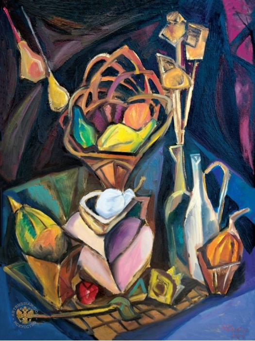 Cubist still life, by Liviu Hâncu.