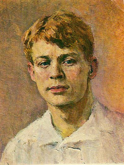 Portrait of the poet Sergei Yesenin (1895-1925) by Lydia Charlemagne. (1955).