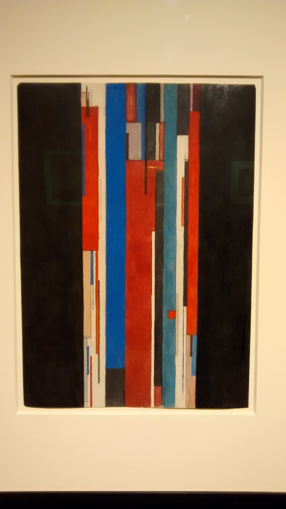Colour lines in vertical motion, by Ilya Chashnik. (1923-25)