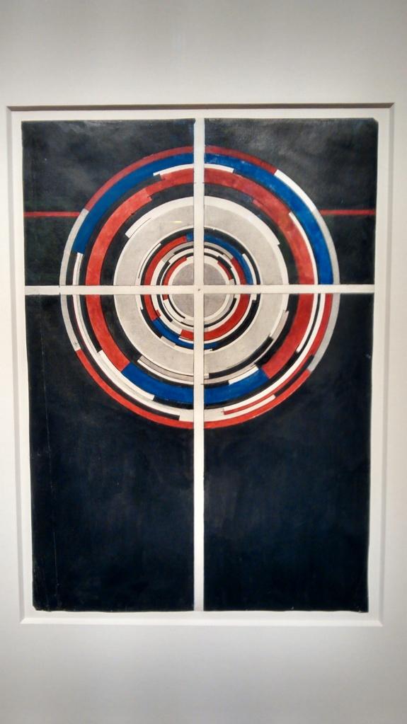 Circles in a suprematist cross, by Ilya Chashnik. (1926).
