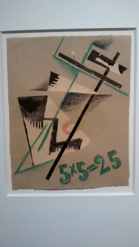 Design for cover of Exhibition Catalogue 5x5=25, by Liubov Popova. (1921).