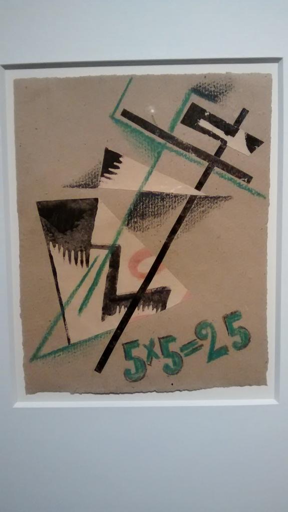Design for cover of Exhibition Catalogue 5x5=25, by Liubov Popova. (1921).