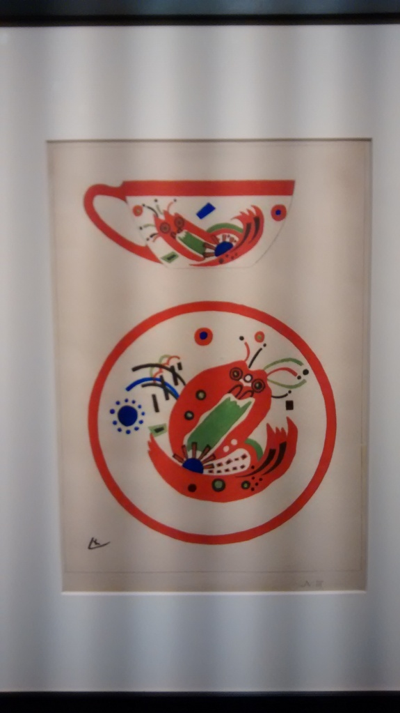 Study for cup and saucer, by Vasily Kandinsky. (1920-21).