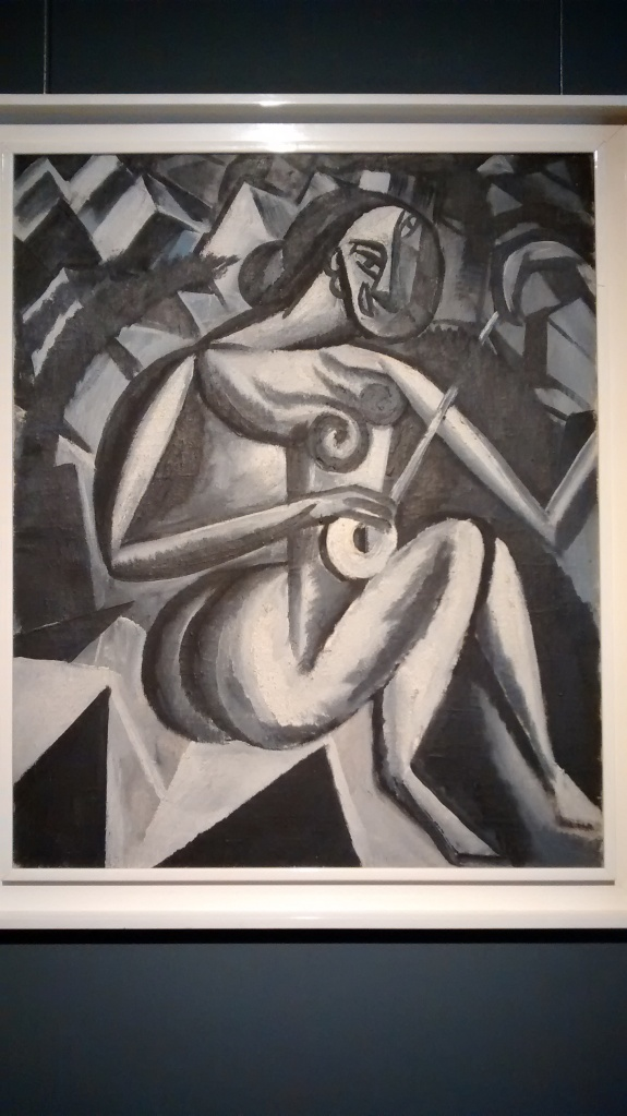 Woman with guitar.