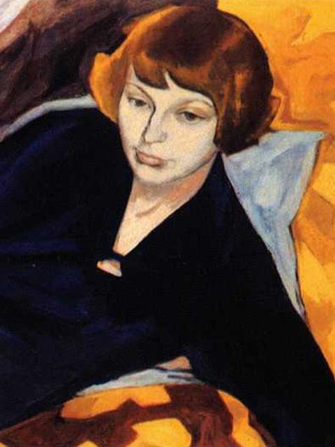 Portrait of Maria Tsvetaeva (1892-1941, poet), by Magda Nachman. (1915)