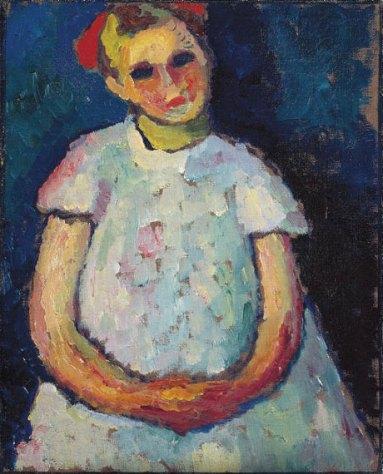 Girl, folding hands. (1909).