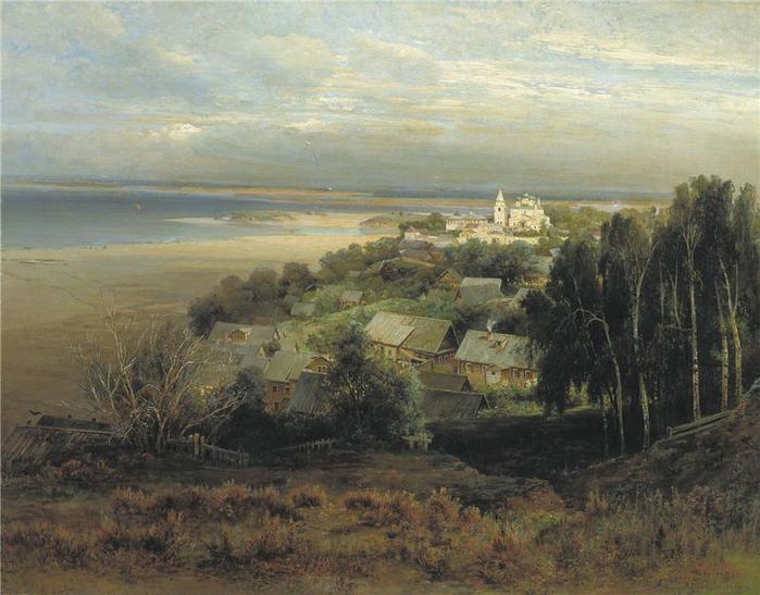 The Pechersk Monastery near Nizhny Novgorod.