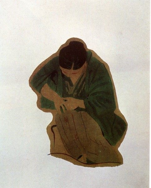A grieving woman. (1932).