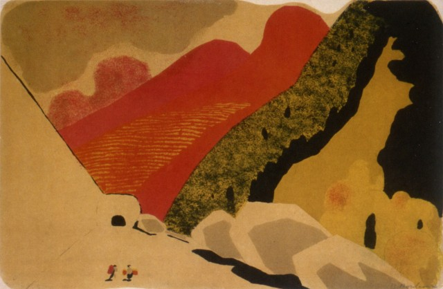 From a series of landscapes. (1930s).