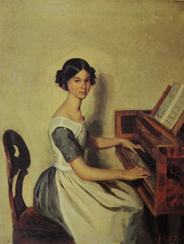 Portrait of Nadezhda Zhdanovich at the fortepiano. (1849).