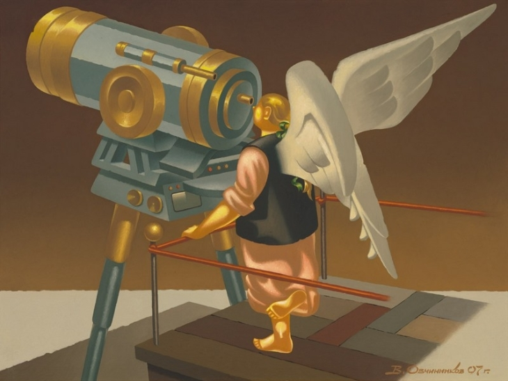 Angel at the telescope. (2007).