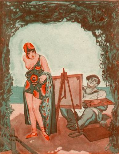 The painter and the model. (1929).