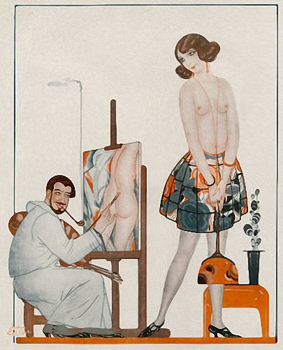 The painter and the model. (1923).